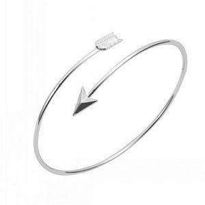 Silver Arrow Adjustable bangle bracelet